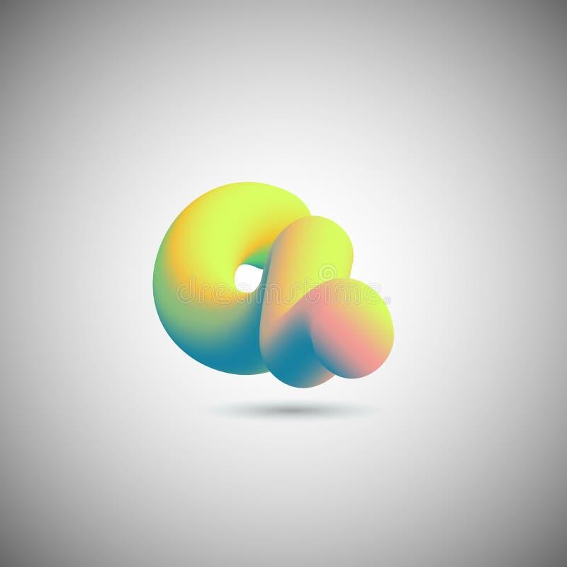 Fundo abstrato do projeto do vetor 3D da forma fluida ilustração do vetor