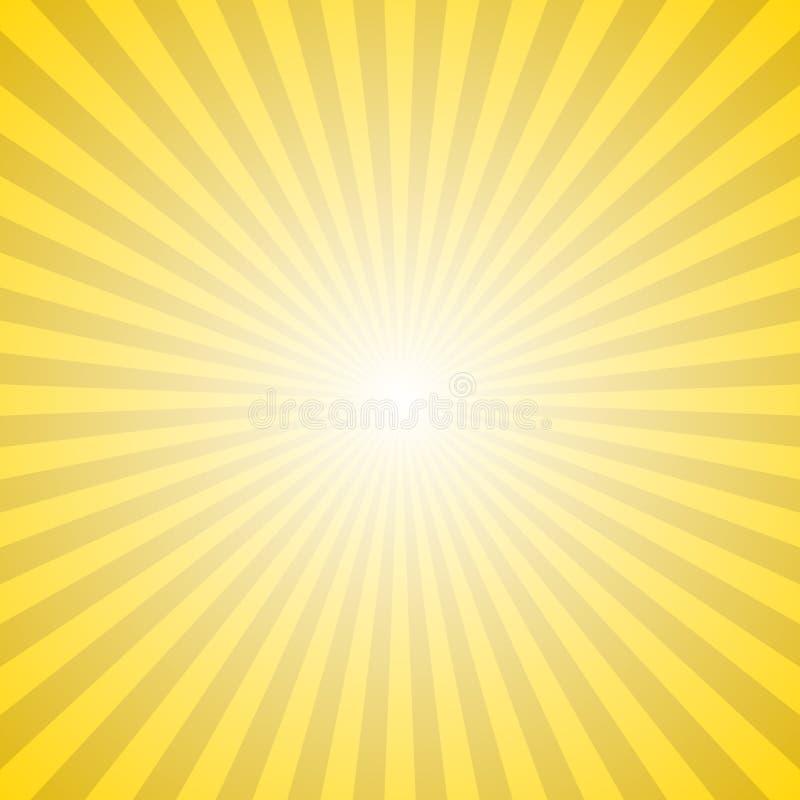 Fundo abstrato do raio do sol do inclinação - ilustração hipnótica do vetor ilustração stock