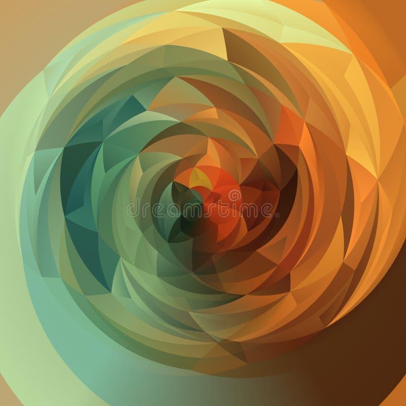 Fundo abstrato do redemoinho - verde outonal e laranja do espectro do arco-íris da cor completa coloridos ilustração royalty free