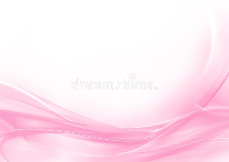 Fundo abstrato do rosa pastel e do branco ilustração stock