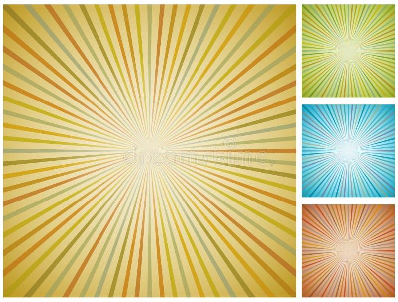 Fundo abstrato do starburst do vintage. ilustração stock