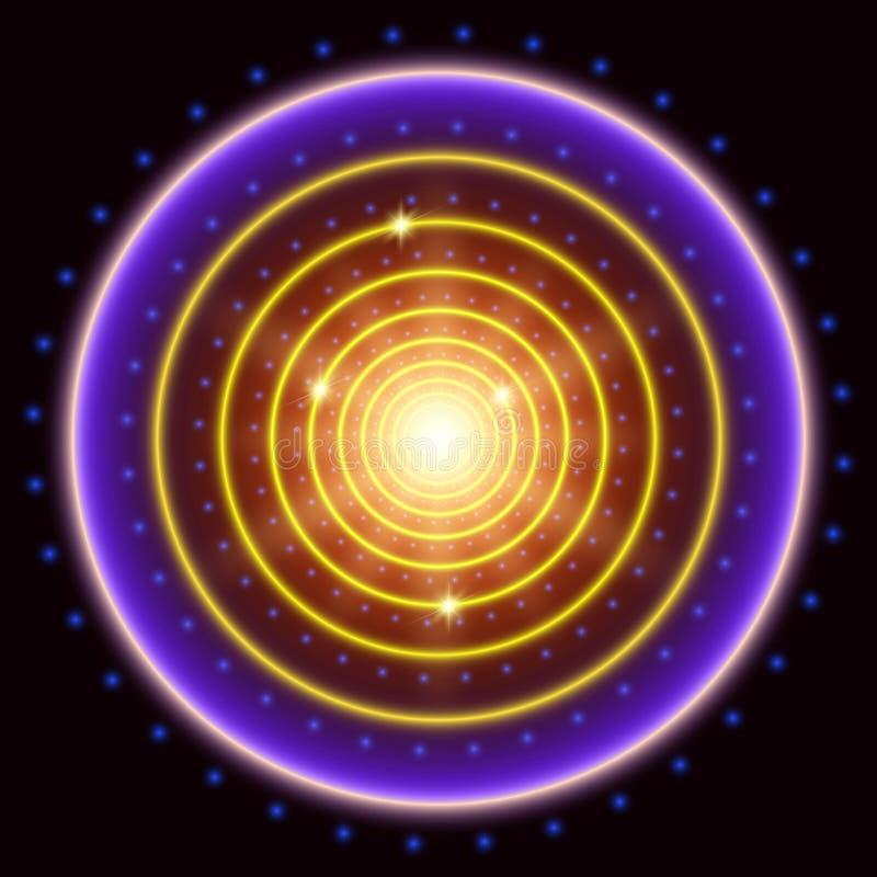 Fundo abstrato do túnel do círculo ilustração royalty free
