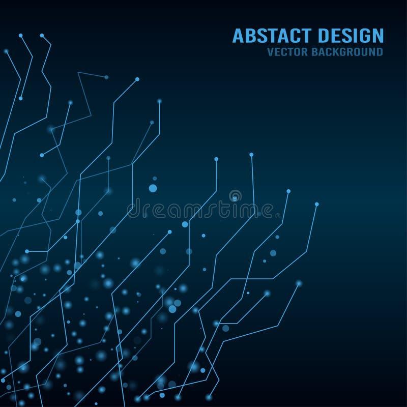 Fundo abstrato do techno com pontos de conexão Ilustração do vetor ilustração do vetor