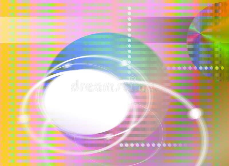 Fundo abstrato do teste padrão da cor ilustração do vetor