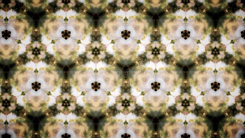 Fundo abstrato do teste padrão do flblock do verde amarelo fotos de stock