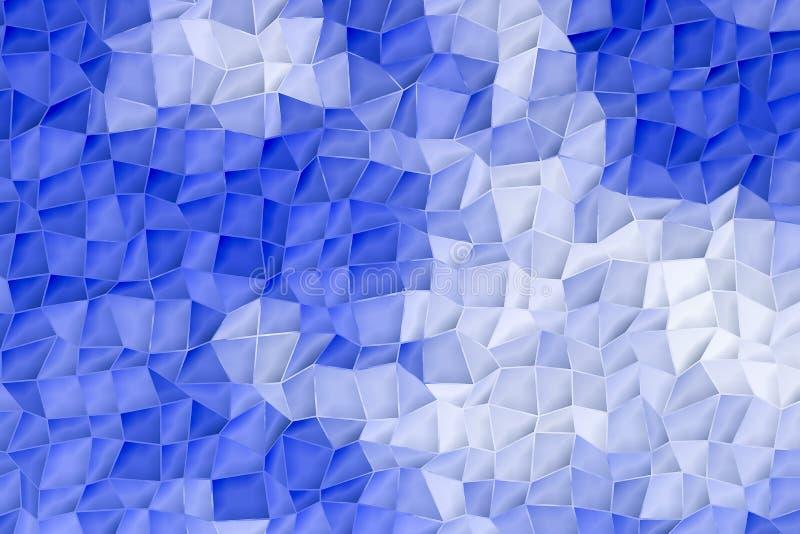 Fundo abstrato do teste padrão projeto azul da cor e branco de superfície bonito ilustração royalty free