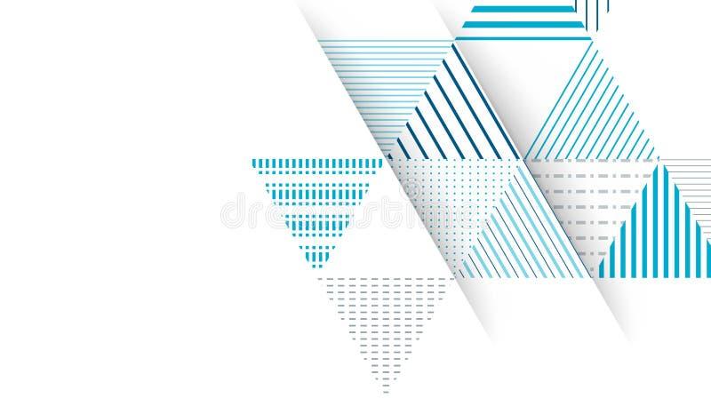 Fundo abstrato do teste padrão do triângulo ilustração stock