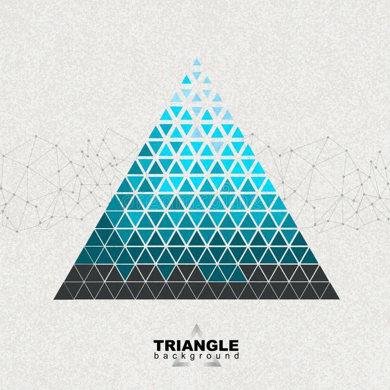 Fundo abstrato do triângulo do poligon do moderno ilustração do vetor