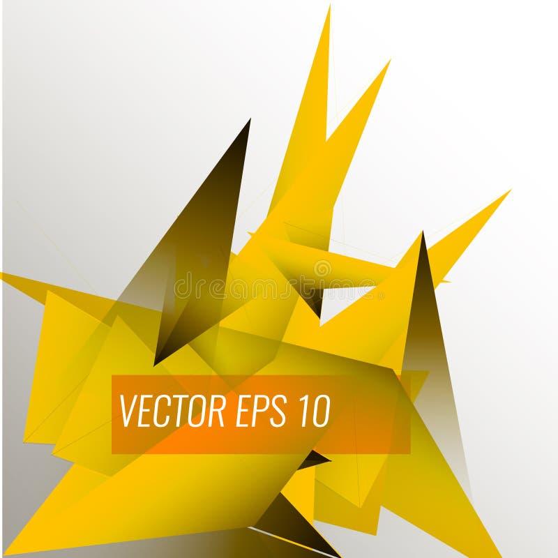 Fundo abstrato do triângulo triângulos 3D Ilustração do vetor Eps 10 ilustração stock