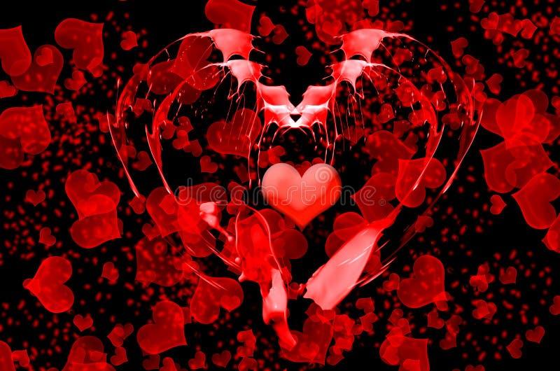 Fundo abstrato do Valentim ilustração stock