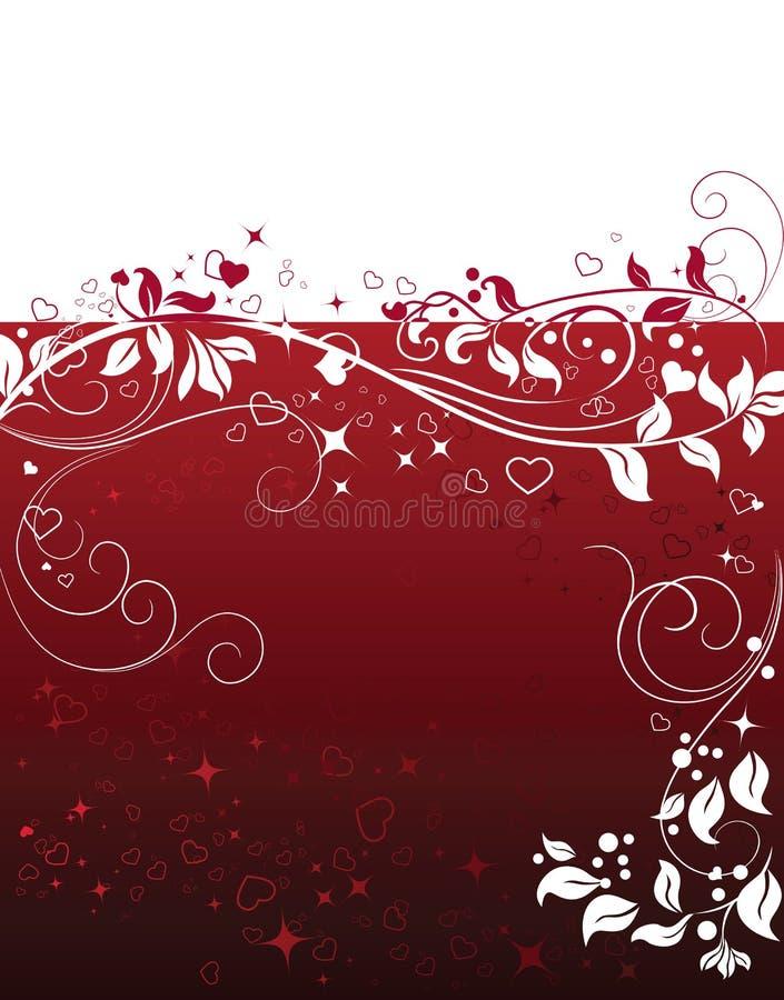 Fundo abstrato do Valentim com elementos do coração ilustração do vetor