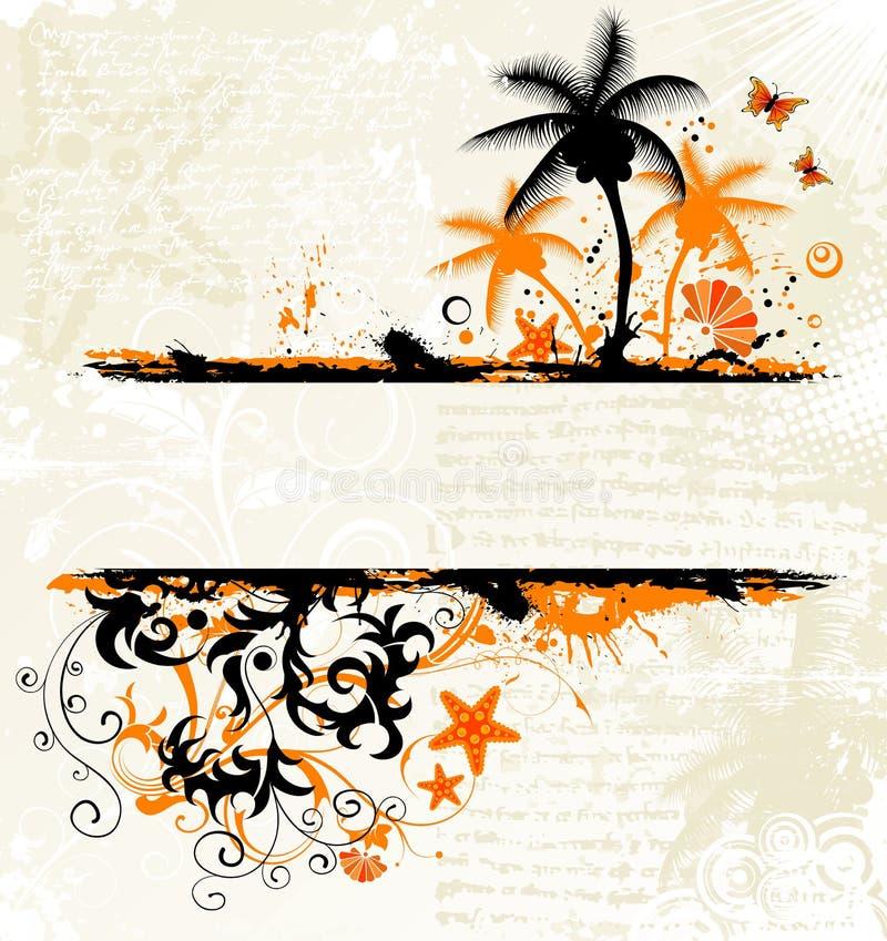 Fundo abstrato do verão ilustração do vetor