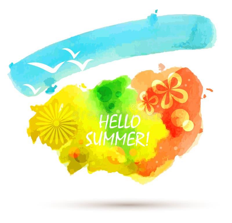 Fundo abstrato do verão ilustração stock