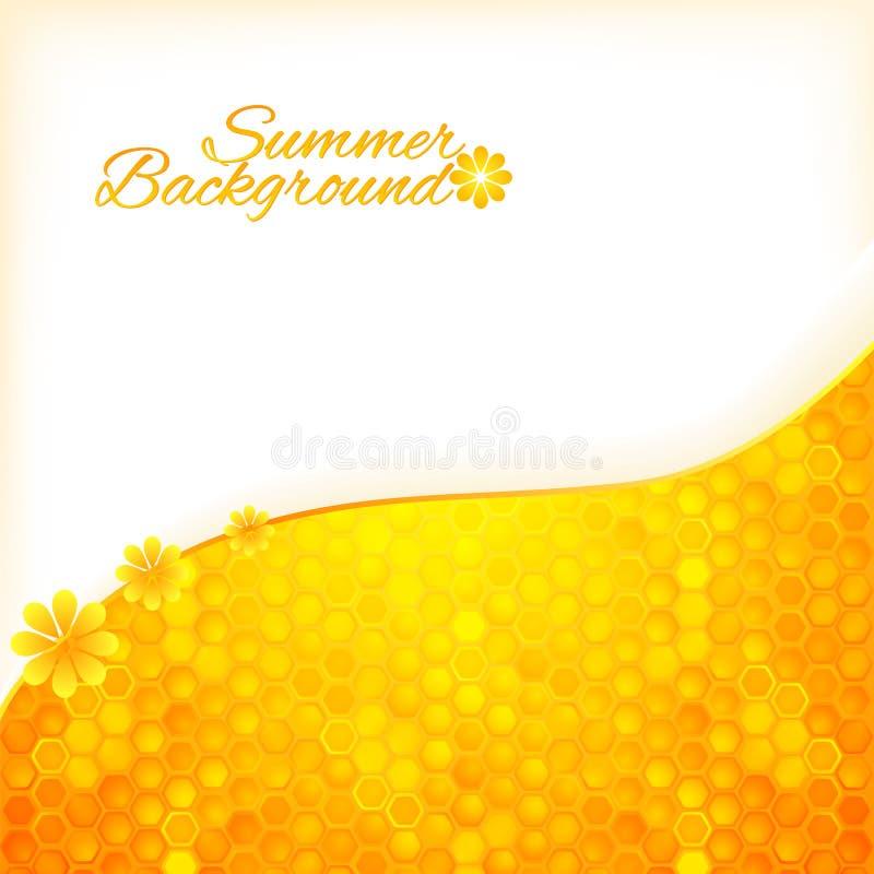 Fundo abstrato do verão com mel ilustração do vetor