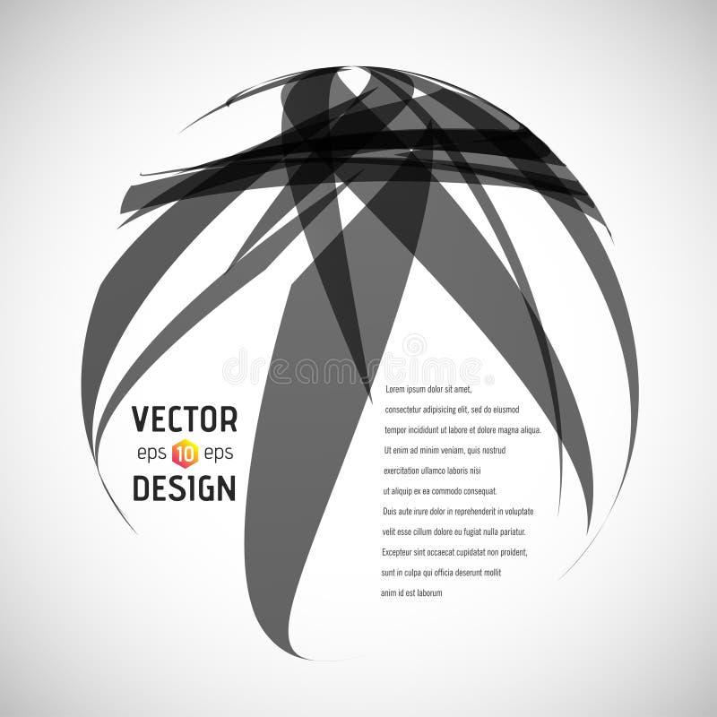 Download Fundo abstrato do vetor ilustração do vetor. Ilustração de curva - 107525956
