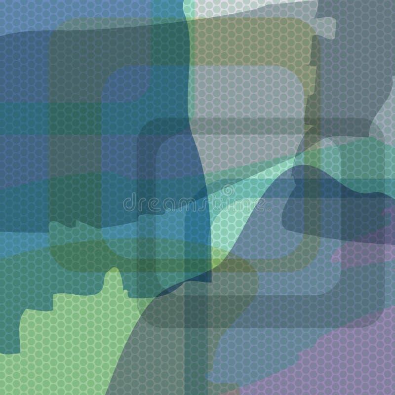 Fundo abstrato do vetor azul Ddots ilustração do vetor