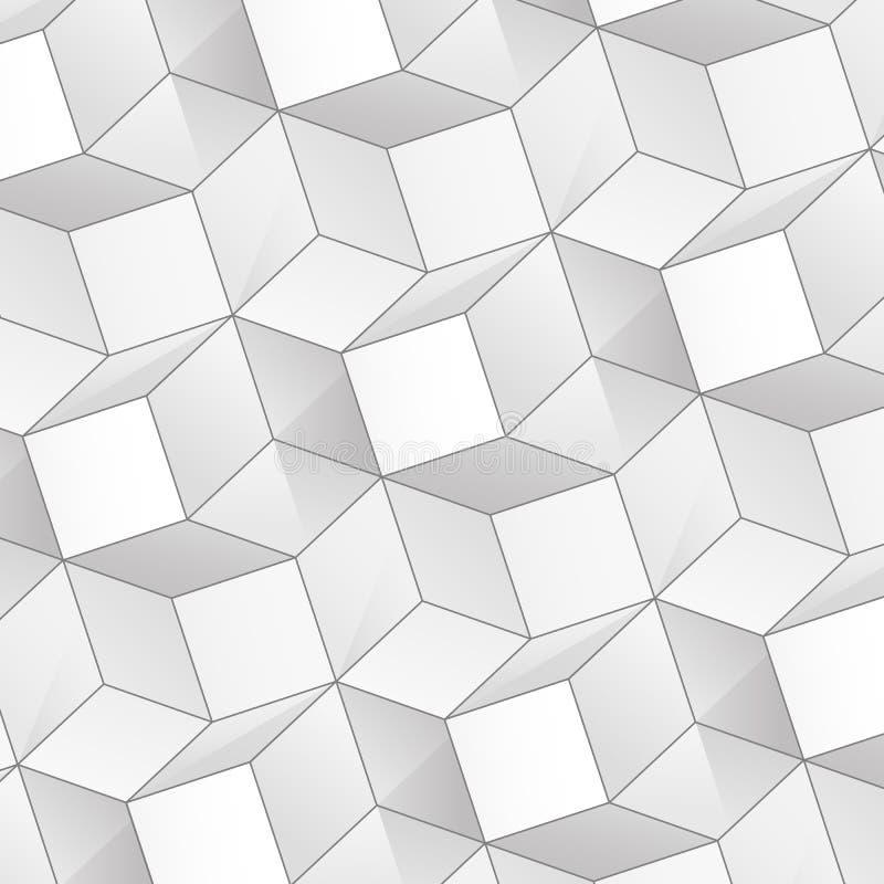 Fundo abstrato do vetor com cubos do volume ilustração royalty free