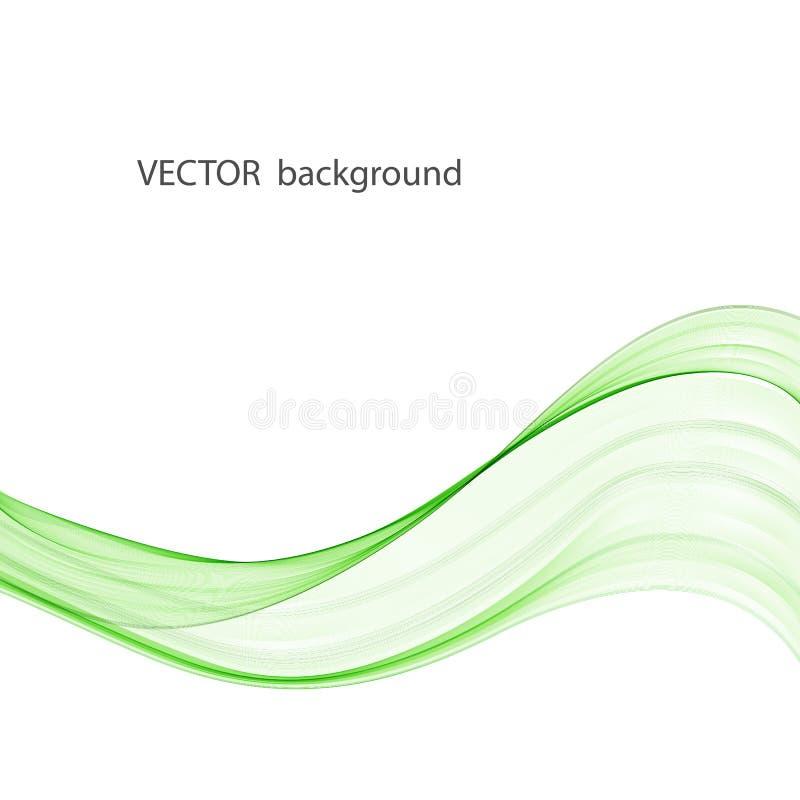 Fundo abstrato do vetor com a onda lisa da cor Linhas onduladas do fumo, vetor ilustração royalty free