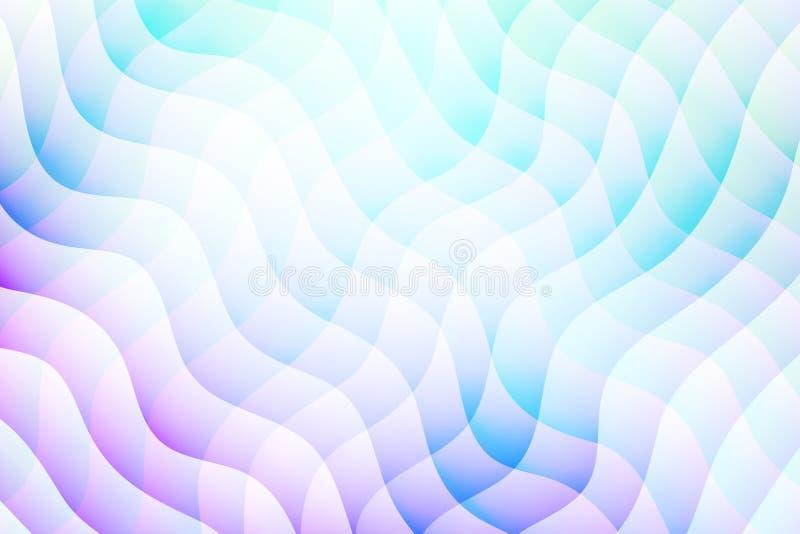 Fundo abstrato do vetor Contexto mergulhado do efeito Textura de Minimalistic com motivo ondulado Bandeira, inseto, molde de tamp ilustração stock