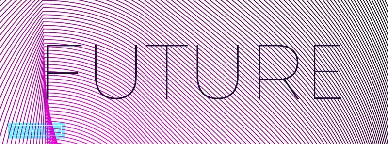 Fundo abstrato do vetor de Minimalistic com linhas ilustração do vetor