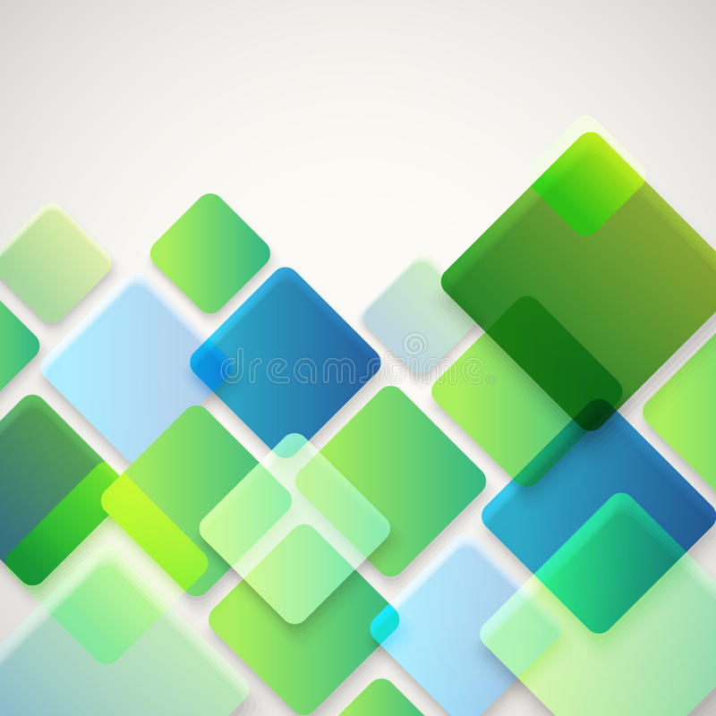 Fundo abstrato do vetor de quadrados diferentes da cor ilustração royalty free