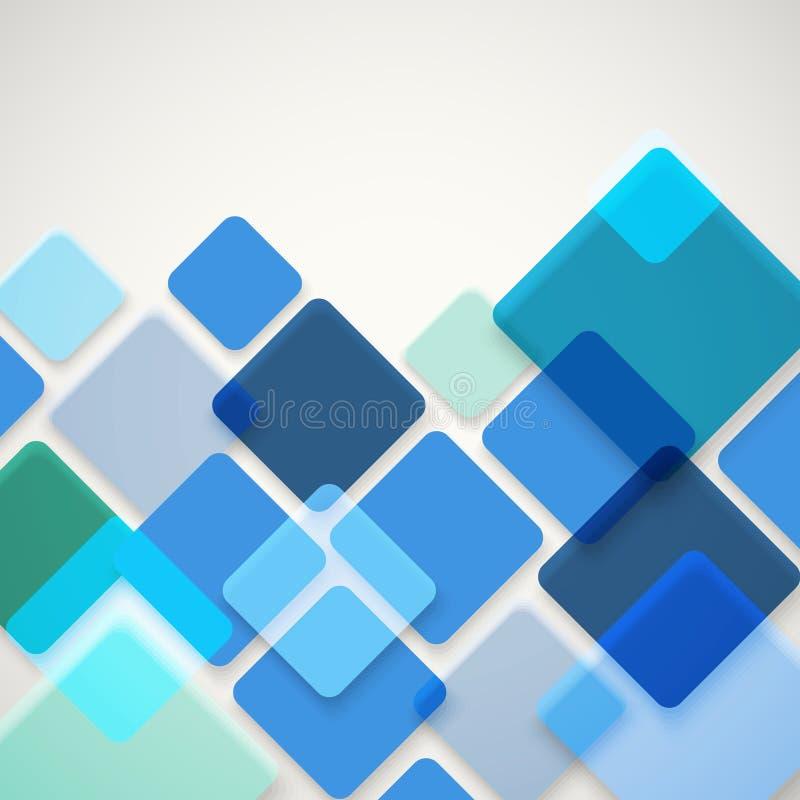 Fundo abstrato do vetor de quadrados diferentes da cor ilustração stock