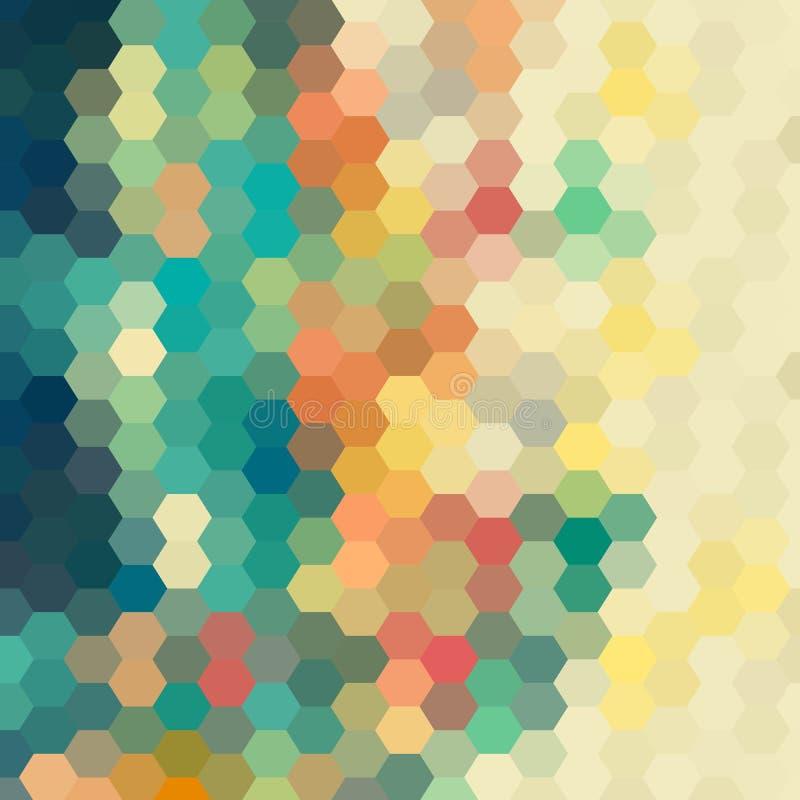 Fundo abstrato do vetor disposição para anunciar hexágonos coloridos Eps 10 ilustração stock