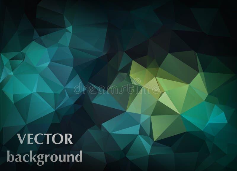 Fundo abstrato do vetor do papel de parede do polígono dos triângulos Web d ilustração stock