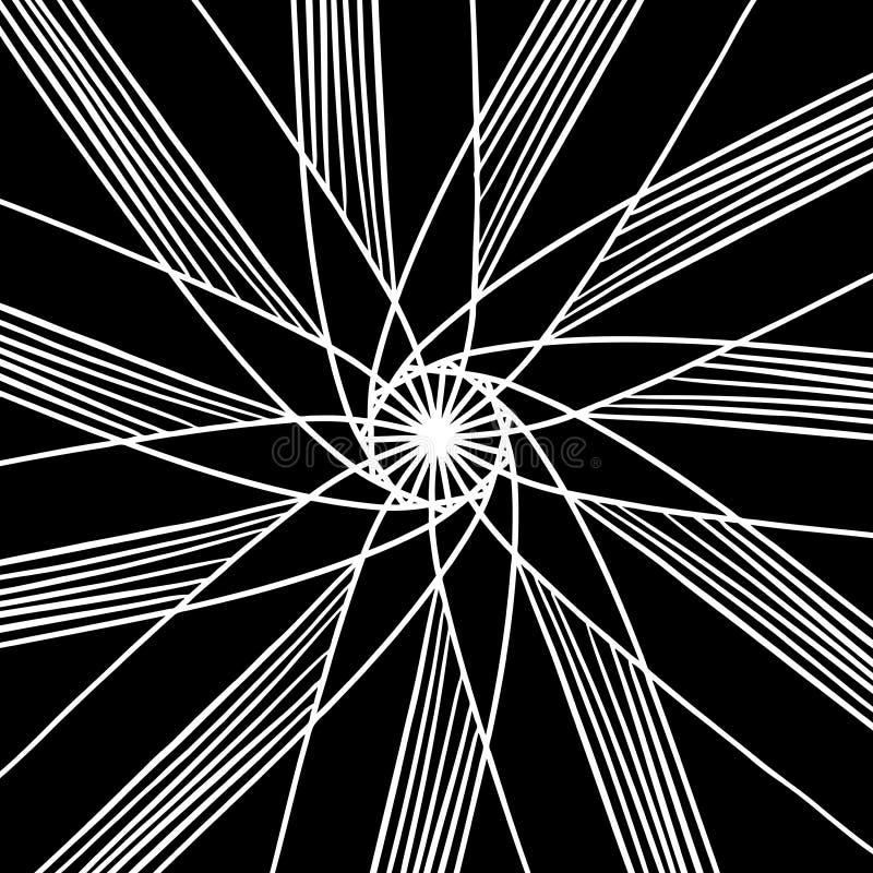Fundo abstrato do vetor do projeto do teste padrão da estrela ou de flor ilustração stock