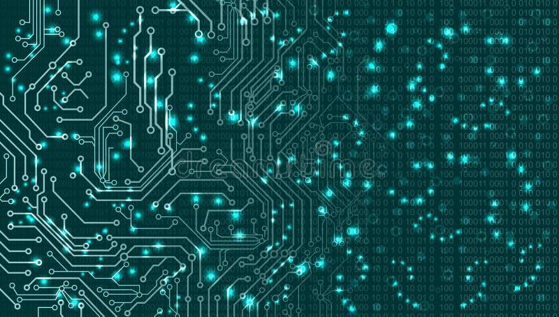 Fundo abstrato do vetor Estilo futurista da tecnologia ilustração stock