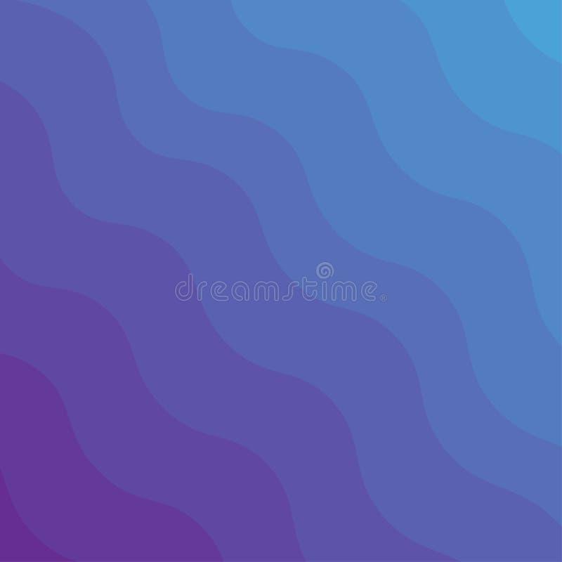 Fundo abstrato do vetor Ondas azuis e violetas do inclinação ilustração royalty free