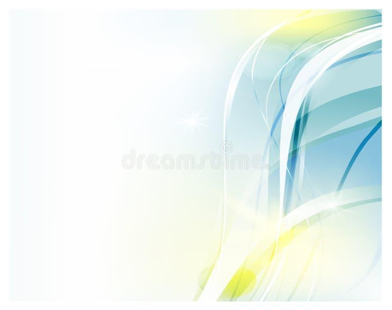 Fundo abstrato do vetor Ondas curvadas brilhantes para anunciar Linhas de incandescência ilustração do vetor