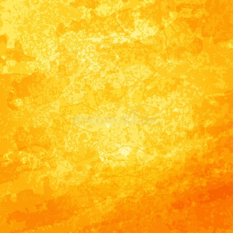 Fundo abstrato do vetor Superfície brilhante ensolarada dourada ilustração stock
