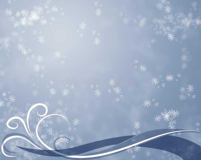 Fundo abstrato do Wintertime ilustração do vetor