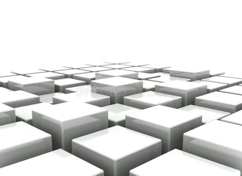 Fundo abstrato dos blocos 3d ilustração do vetor