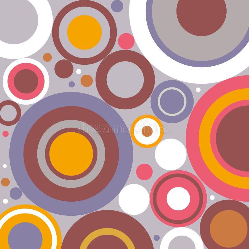 Fundo abstrato dos círculos simples retros ilustração do vetor