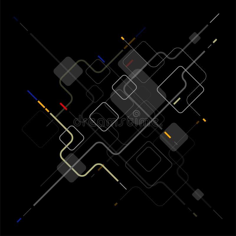 Fundo abstrato dos elementos geom?tricos de Digitas ilustração royalty free