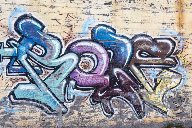 Fundo abstrato dos grafittis imagem de stock