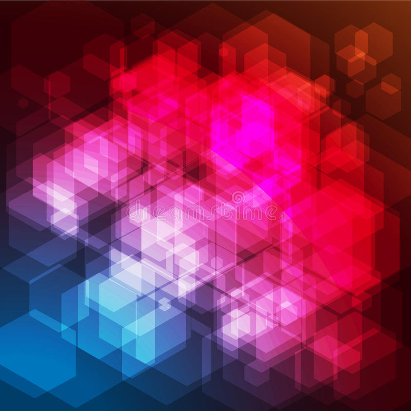 Fundo abstrato dos hexágonos do arco-íris ilustração stock