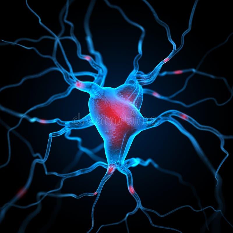 Fundo abstrato dos neurônios ilustração stock