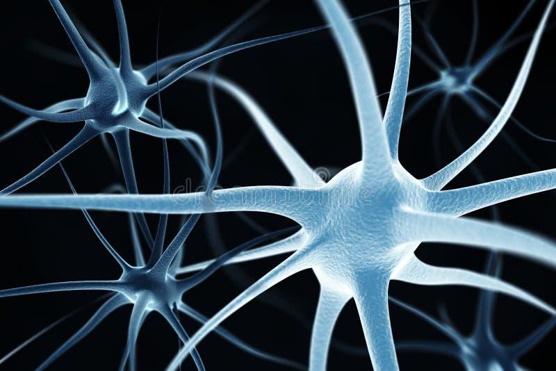 Fundo abstrato dos neurônios ilustração do vetor