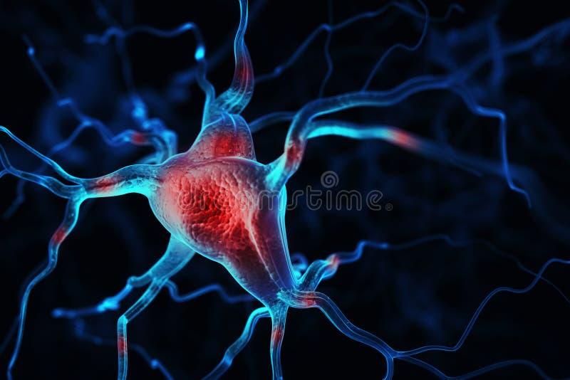 Fundo abstrato dos neurônios ilustração royalty free