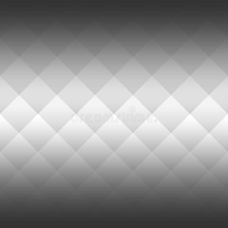 Fundo abstrato dos quadrados no arranjo diagonal Inclinação horizontal bilateral Vetor monocromático, preto e branco ilustração do vetor