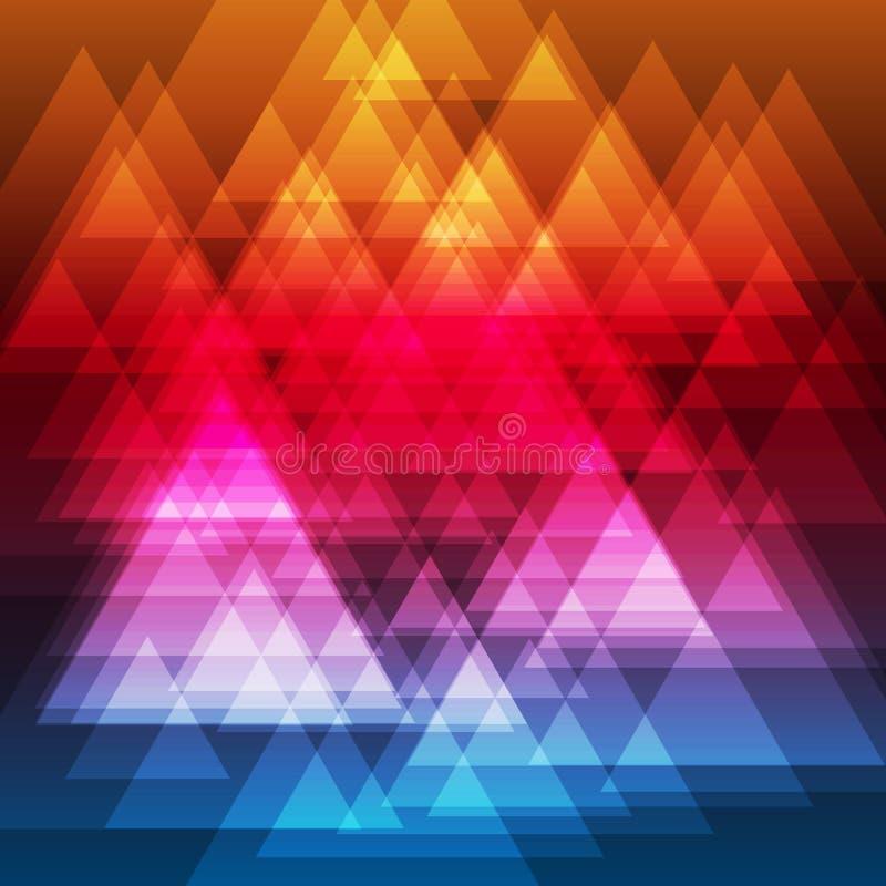 Fundo abstrato dos triângulos do arco-íris ilustração stock