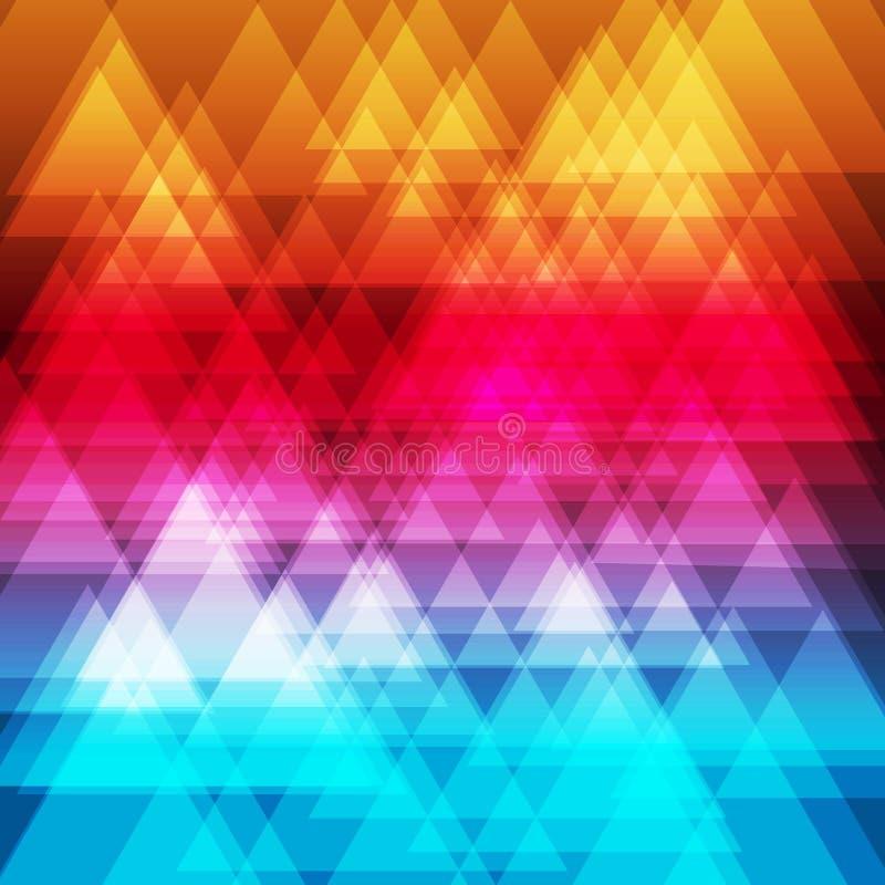 Fundo abstrato dos triângulos do arco-íris ilustração do vetor