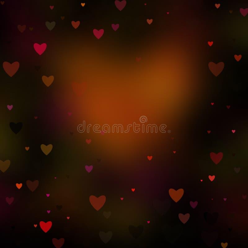Fundo abstrato dos Valentim dos corações imagens de stock royalty free