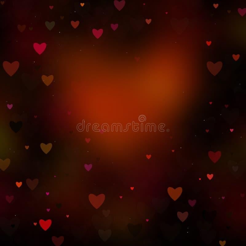 Fundo abstrato dos Valentim dos corações imagem de stock royalty free