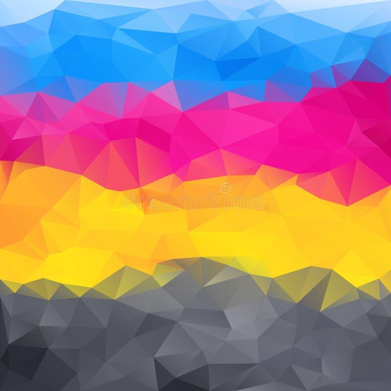 Fundo abstrato em cores do cmyk ilustração royalty free