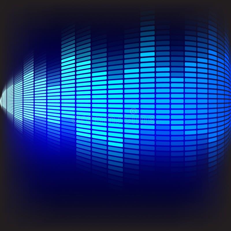 Fundo abstrato - equalizador azul ilustração do vetor