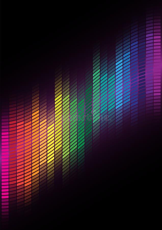 Fundo abstrato - equalizador Multicolor ilustração stock
